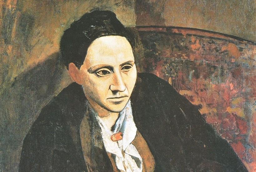 Fragmento del retrato de Gertrude Stein realizado por Picasso