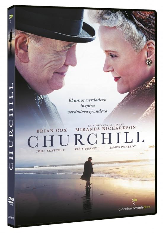 Carátula del DVC de la película Churchill