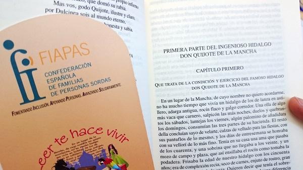 Imagen del primer capítulo de El Quijote