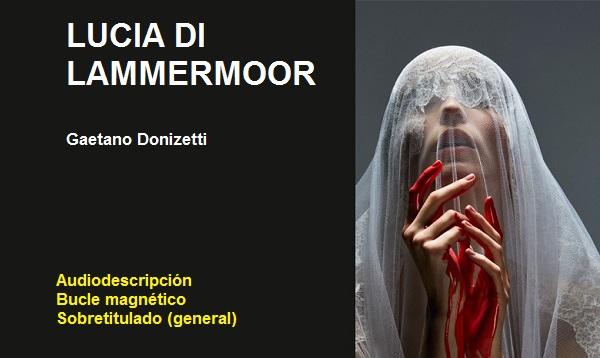 Cartel de la ópera Lucia Di Lammermoor