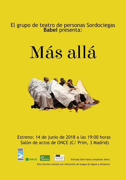 Cartel promocional de la obra Más Allá