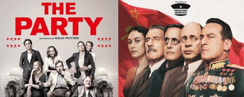 Fragmentos de los carteles de las peliculas La Muerte de Stalin y The Partyrty