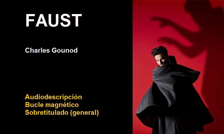 Cartel de la ópera Faust