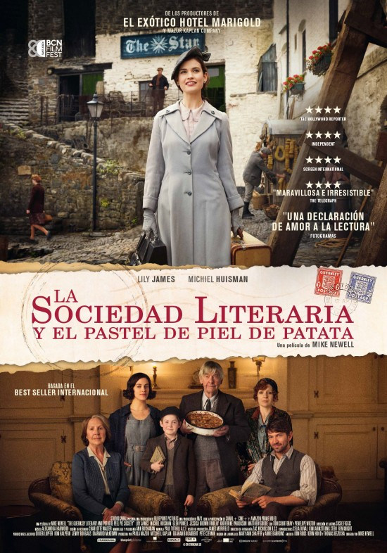 Cartel de la película La Sociedad Literaria y el Pastel de Piel de Patata