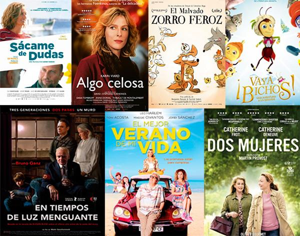 Carteles de las películas que se mencionan en la noticia