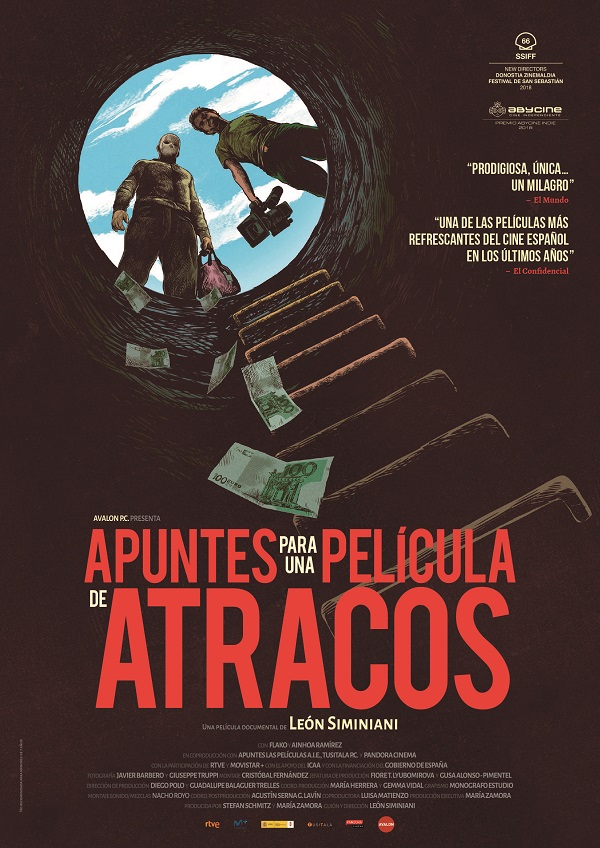 Cartel de Apuntes para una película de Atracos