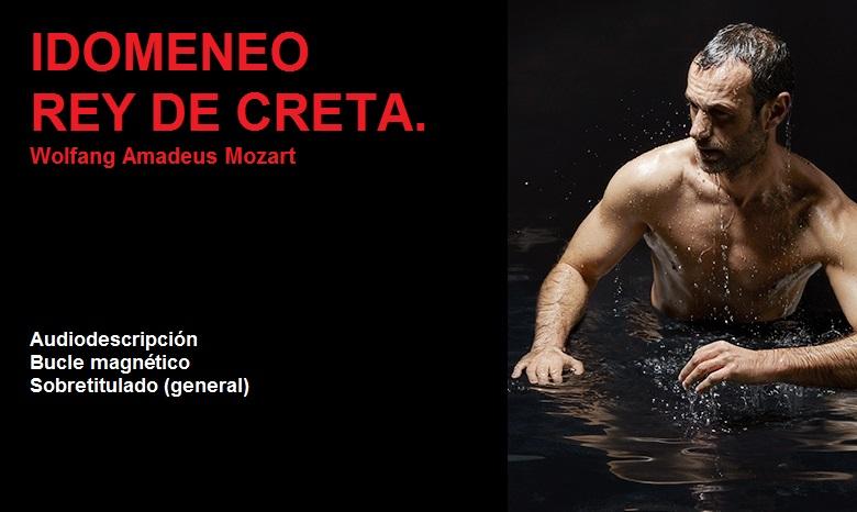 Cartel de la ópera Idomeneo, Rey de Creta
