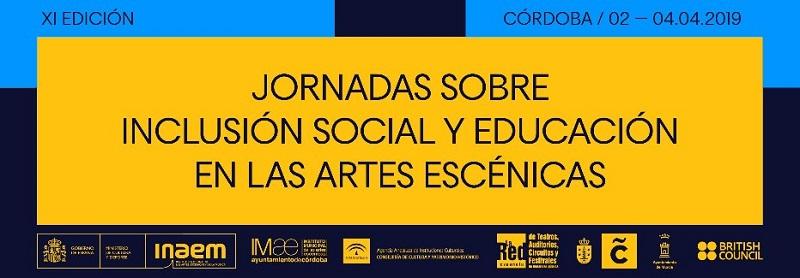 Cartel de las Jornadas sobre Inclusión Social y Educación en las Artes Escénicas