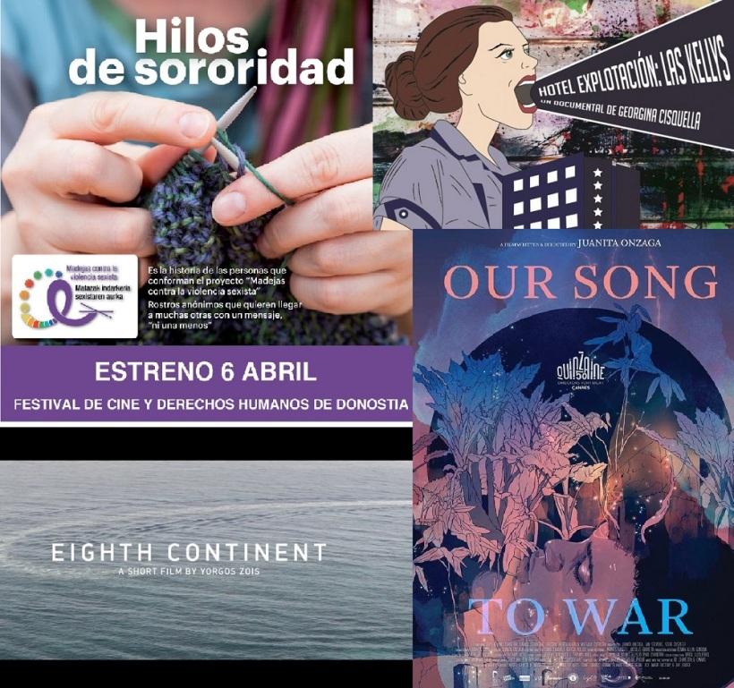 Carteles de las obras audiodescritas para el festival