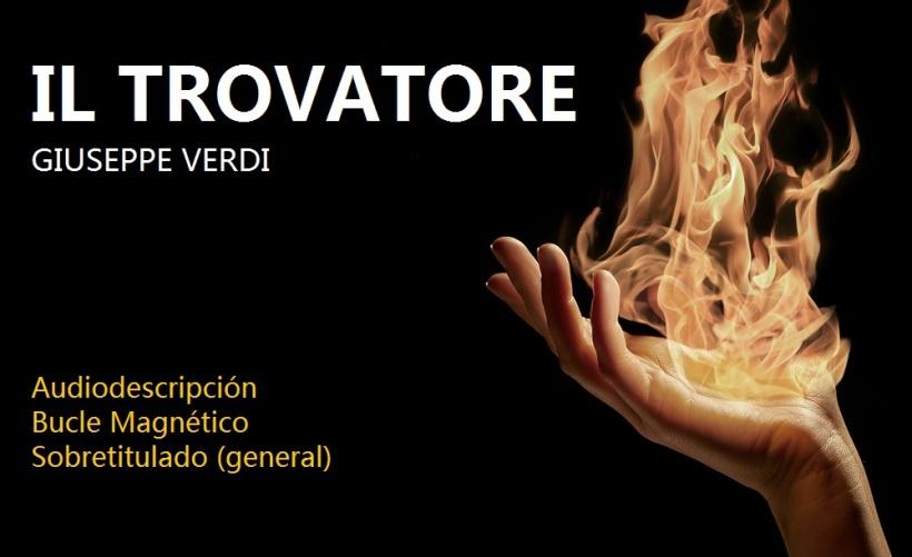 Cartel de la ópera Il Trovatore