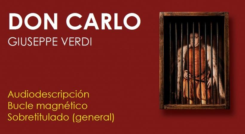 Cartel de la ópera Don Carlo, de Giuseppe Verdi
