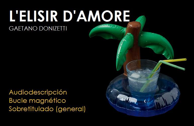 Cartel de la ópera L'elisir d'amore