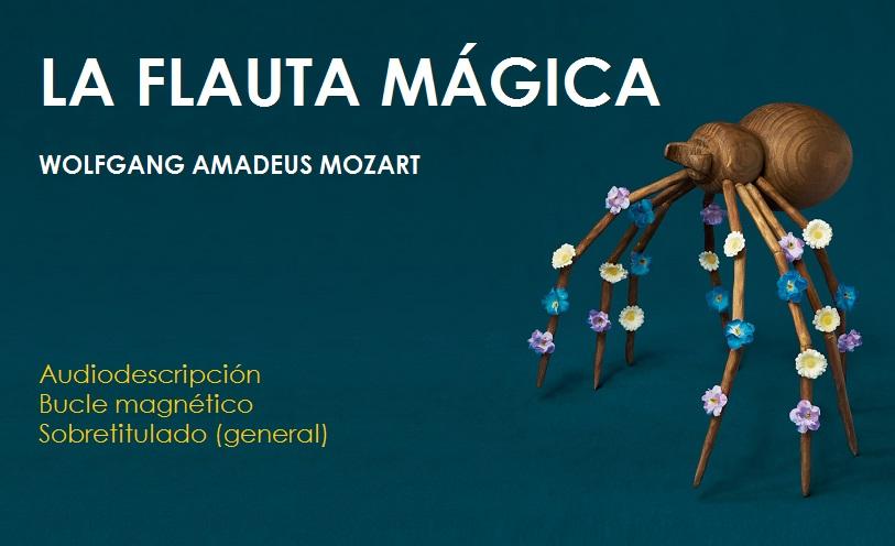 Cartel de la ópera La Flauta Mágica