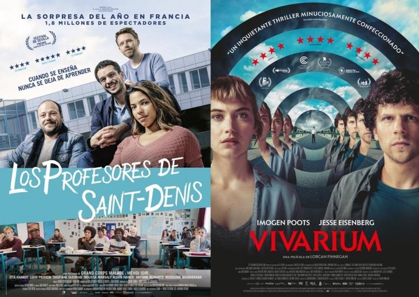 Carteles de las películas Los profesores de Saint-Denis y Vivarium