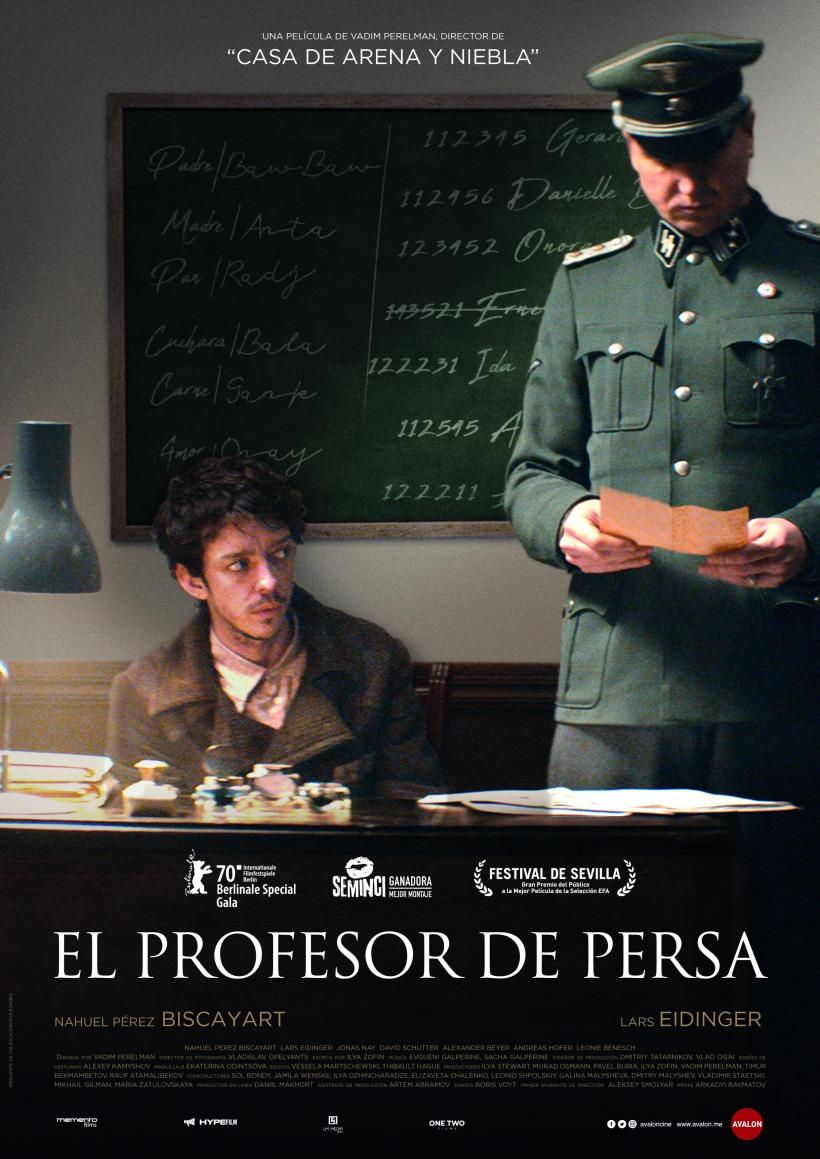 Cartel de la película El Profesor de Persa.
