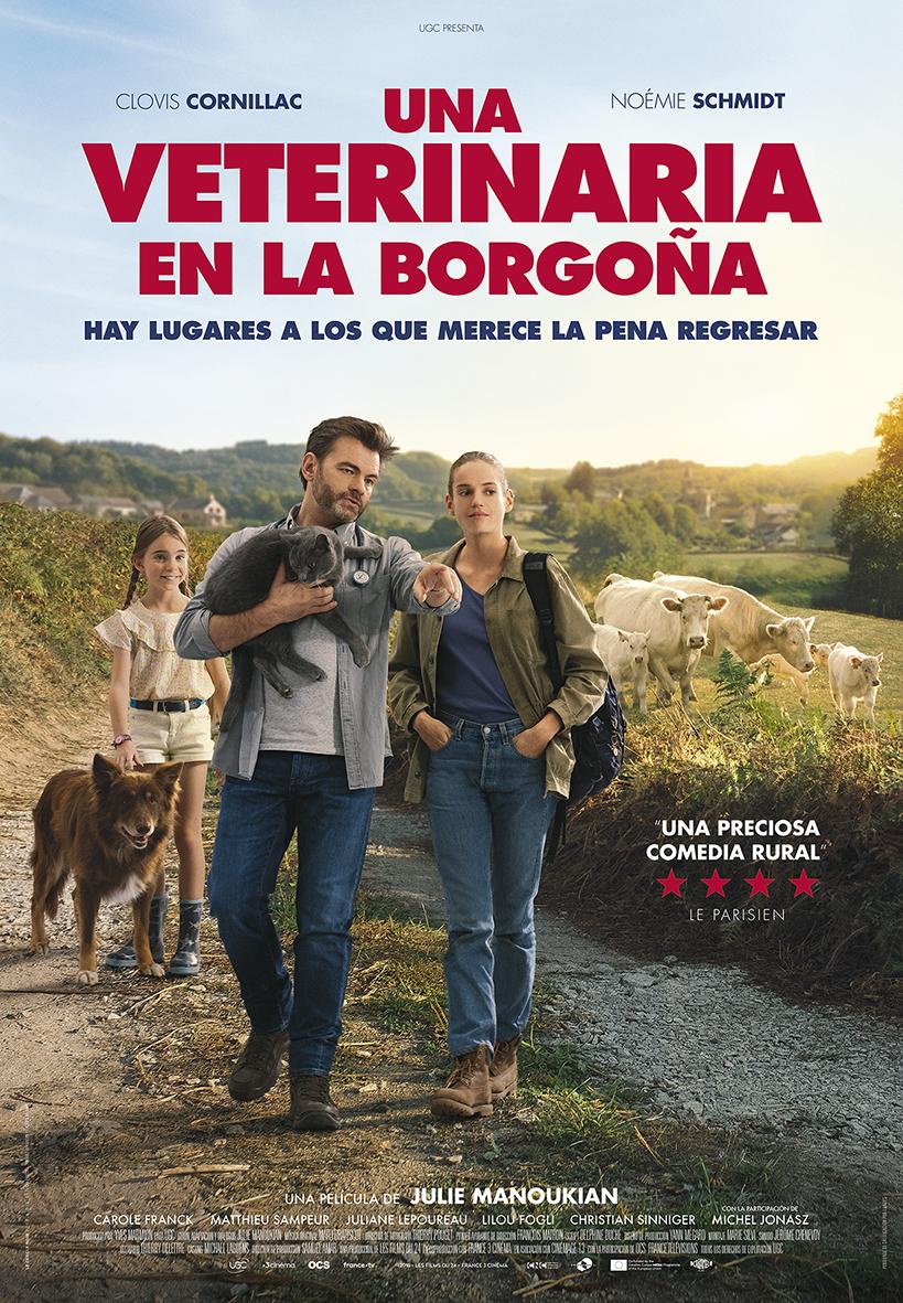 Cartel de la película Una veterinaria en la Borgoña.